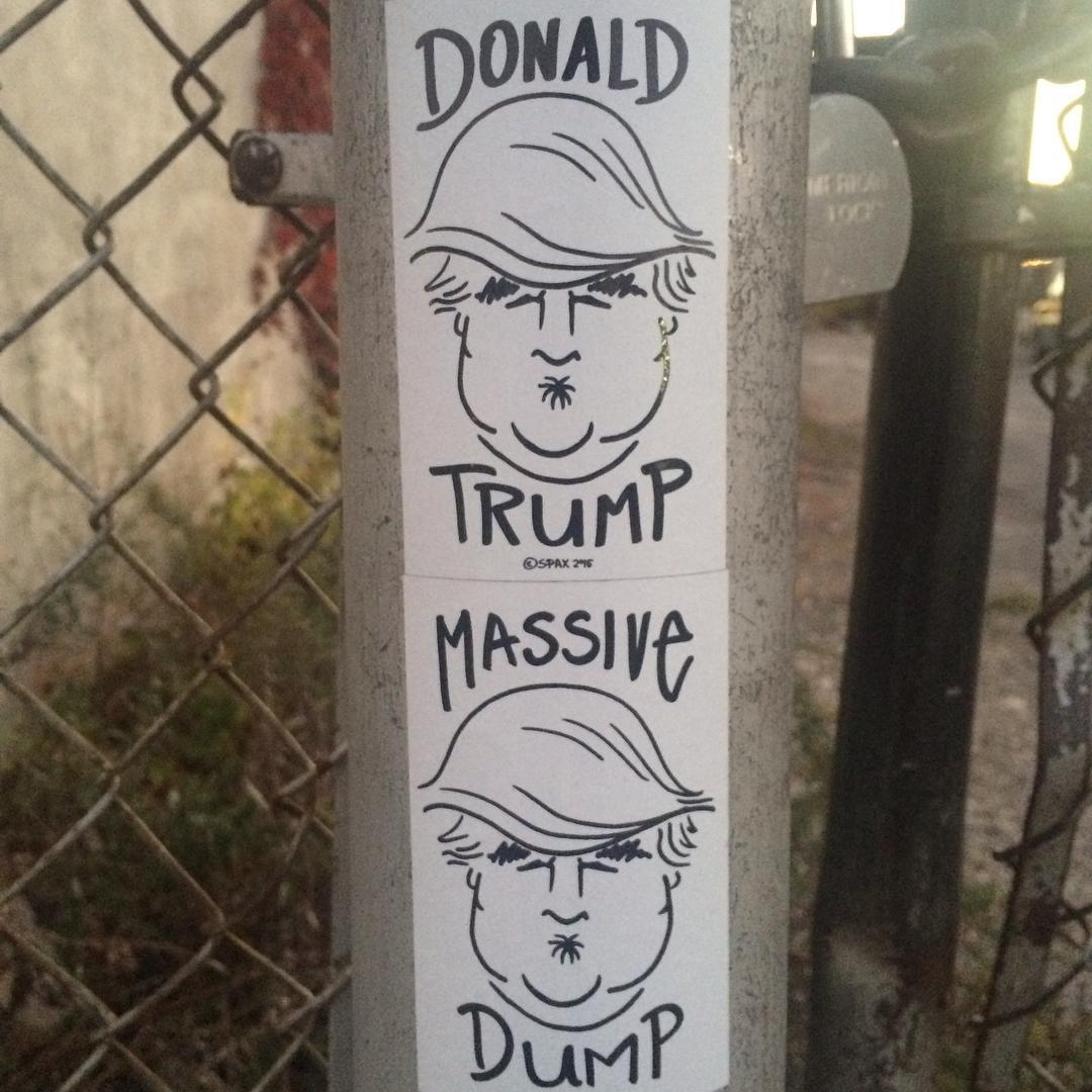 #nofilter necessary. #donaldtrump #massivedump #brooklyn #gowanus #streetart more please #prettyprettynewyorkcity