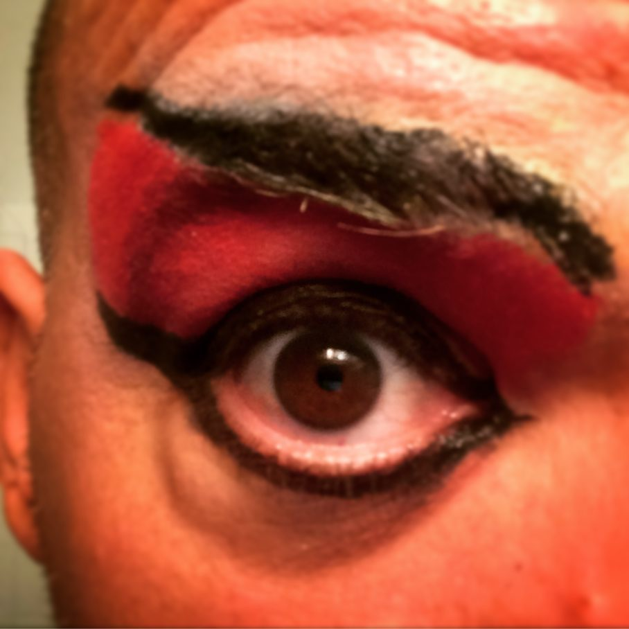 #makeup test #Halloween #makeitwerk I love a #smokeyeye #selfie