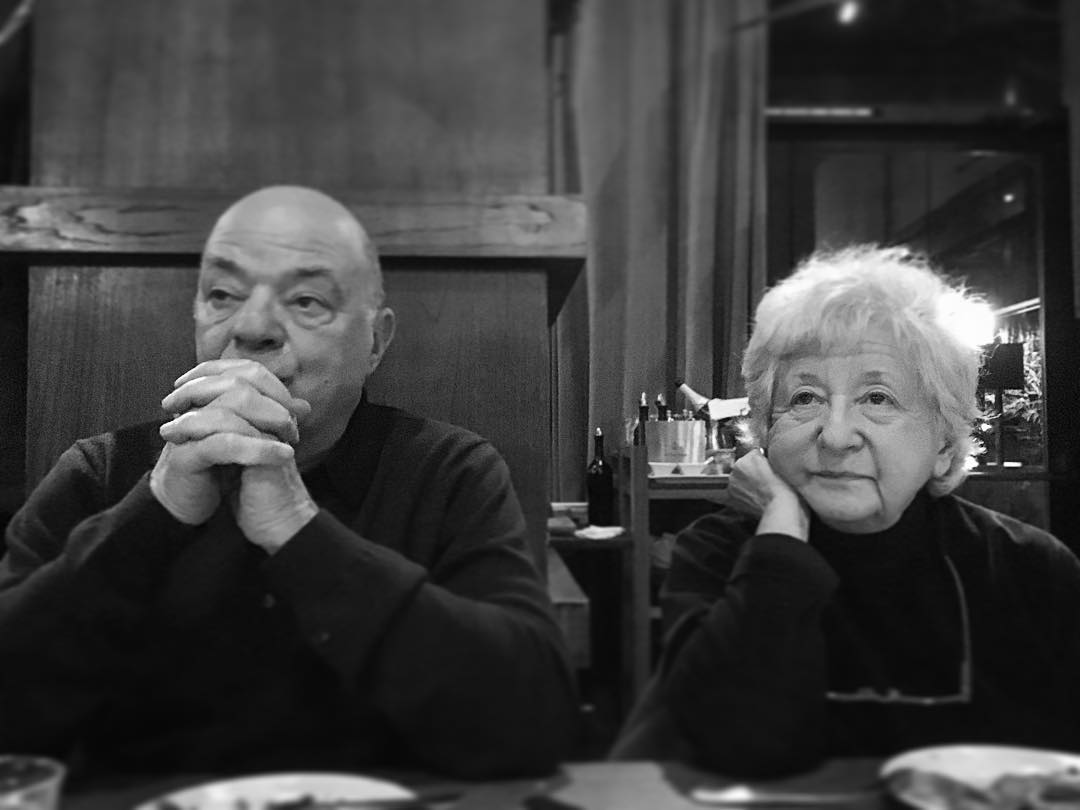 #postprandial #chillin w/ these two #mensches. They have taught me so many things in life but perhaps one of their best lessons is knowing how to enjoy a good meal. #Zalutskysareallgoodeaters. @nostranapdx