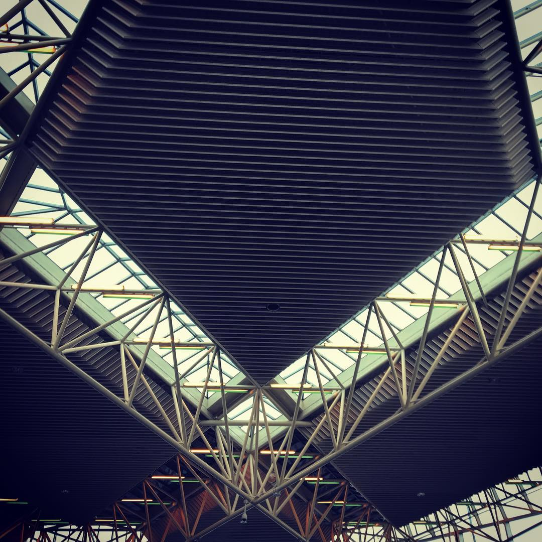 #PDX #portland #airport beautiful  #architecture #design