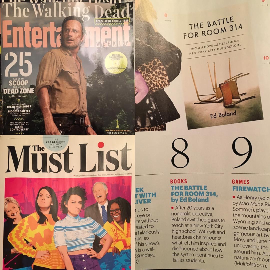 Yes, you must... Congrats to @eddiemgbol for making this week's @entertainmentweekly #themustlist for #thebattleforroom314. You're in pretty good company with @beyonce, @broadcity, #misspiggy and #kermitthefrog, and @HBO's #johnoliver.