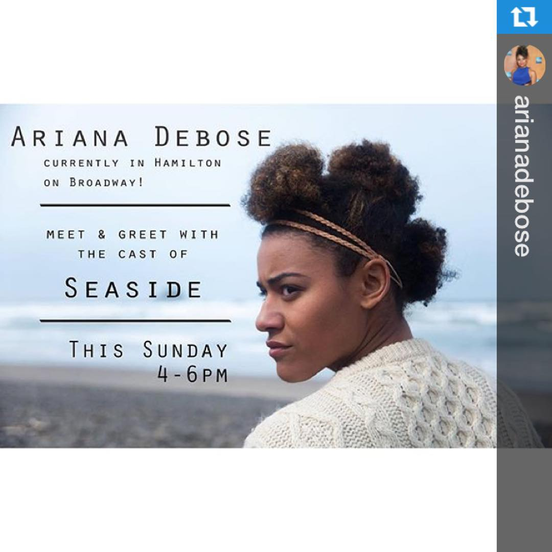 Do you love @hamiltonmusical? Come meet #castmember @arianadebose and other cast from @seasidemovie @m_shingledecker and @thesteffanieleigh to support @basicrightsoregon this #sunday. Link here: https://www.facebook.com/events/1598821997104563/