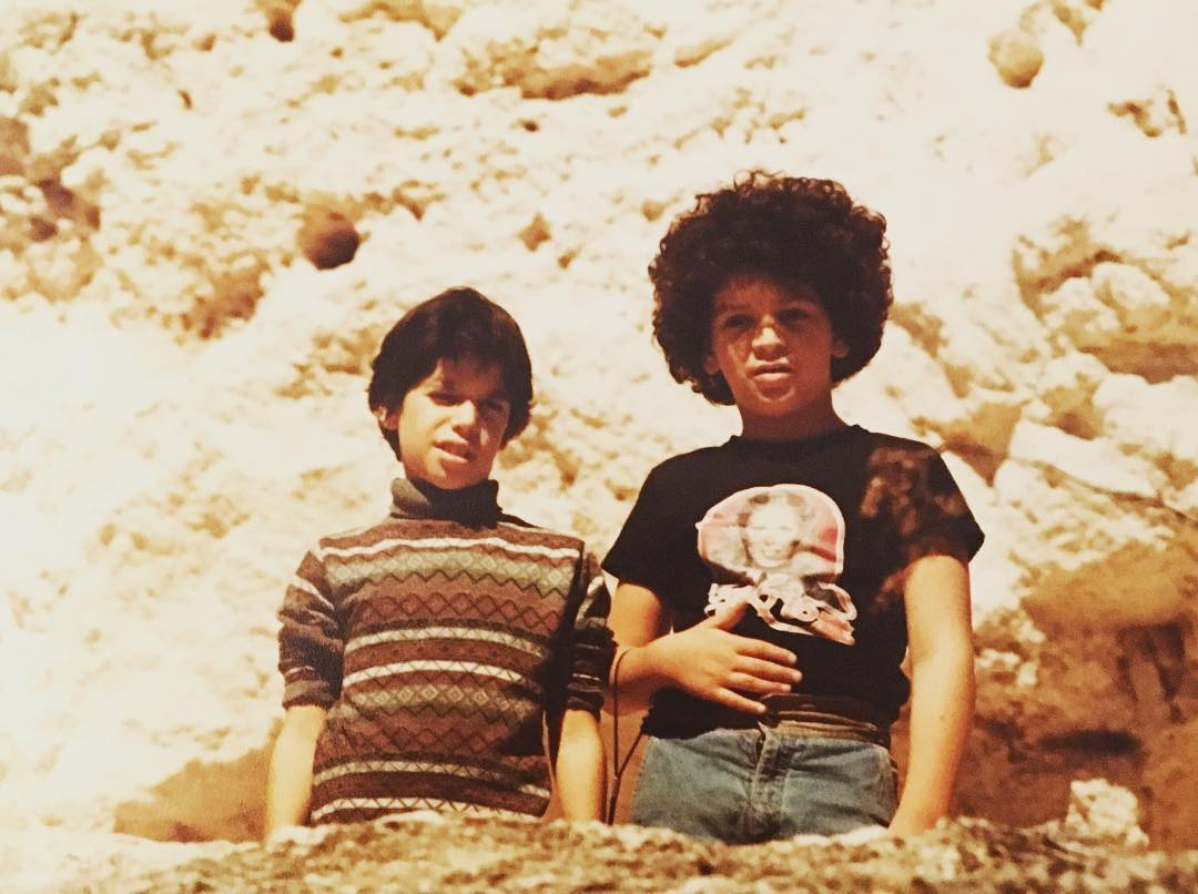 #tbt studies in #jewishhair #70s edition me at the #grandcanyon?? w/ unknown friend. Note #charliesangels #ironon #jewfro