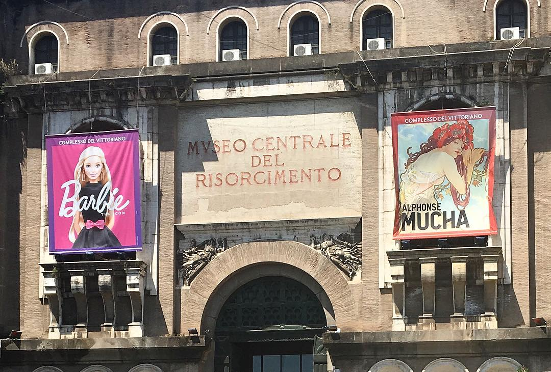 #decisionsdecisions #rome #roma which one should o see? #museocentraledelrisorgimento #barbie #corporatesponsorship #oyvey #italy #italia #artiseverywhere