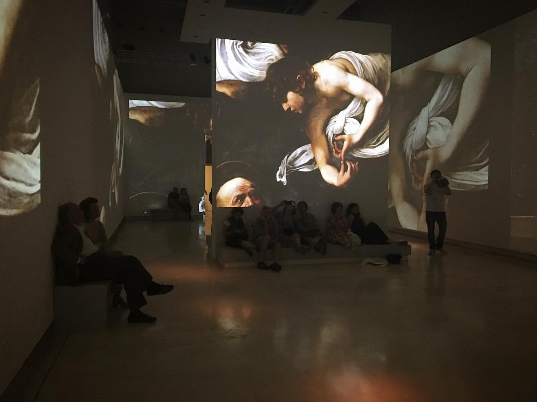 Yesterday @palazzodelleesposizioni #caravaggio #multimedia show... Didn't really get the #gimmick but love the work. #Roma #Rome #Italy #Italia #art #arte