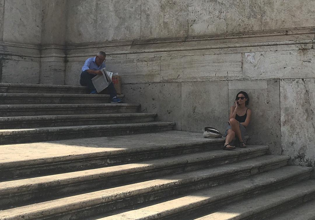 Outside #palazzodelleesposizioni yesterday #chillin in the shade in #Rome #Roma #Italy #italia