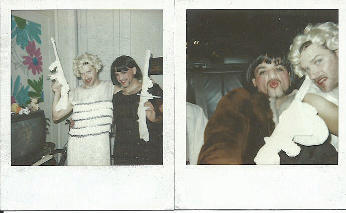 In honor of last night's #takarazuka #lcfestival version of #Chicago here's a #tbt to #roxiehart and #velmakelly from #Halloween a ways back #Polaroid #makerealpictures #polaroid600