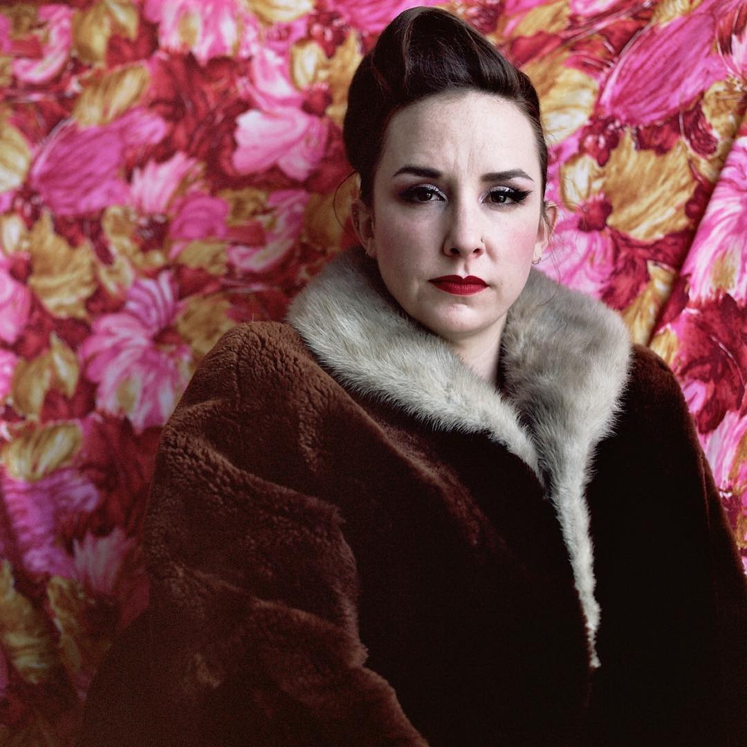 As if it isn't #scorchinghot enough in #NYC today, here's @booboodarlin #booboodarlin doing full #Bulgarianhousewife realness in a #fauxfur get up. This is a #tbt to March in my studio in #gowanus but c'mon. #shootfilm #120film #hasselblad #burlesque #burlesquedancer #weekofbooboo