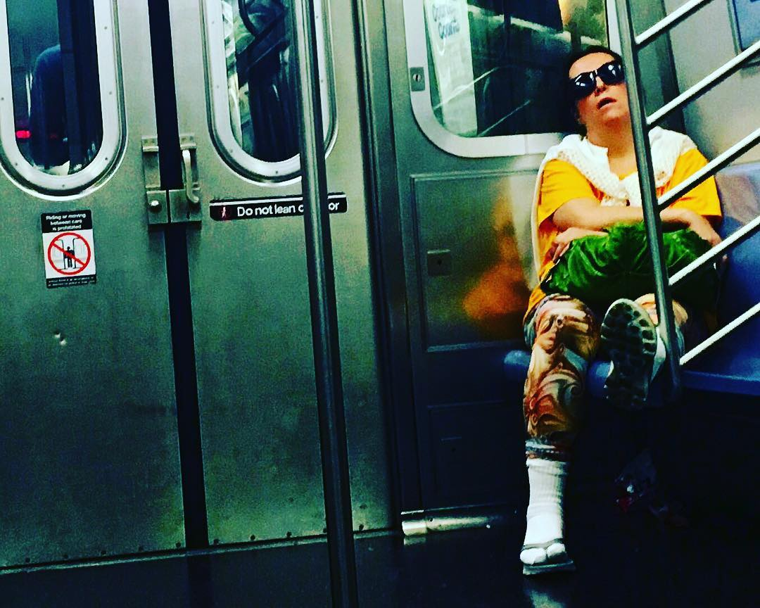 This should totally be the new poster for #thegirlonthetrain #movie. #marketinggenius #mta #subway #nyc #streetphotography #worldphotographyday